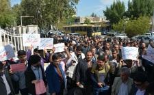 1 تجمع اعتراضی معلمان در بوشهر
