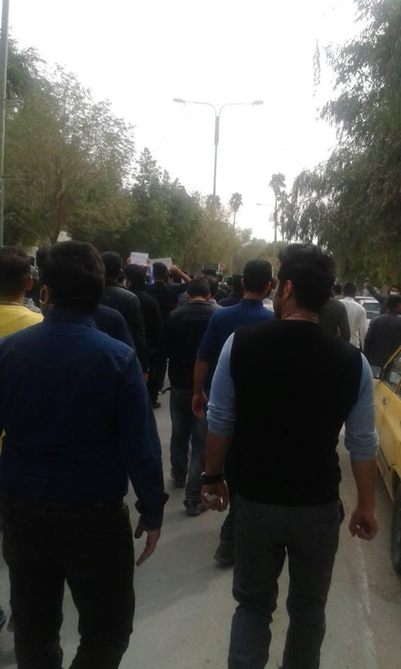 ادامه اعتراض مردمی در اهواز علیرغم تهدید استاندار  و تدابیر امنیتی