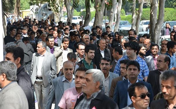 18 تجمع اعتراضی معلمان در بوشهر