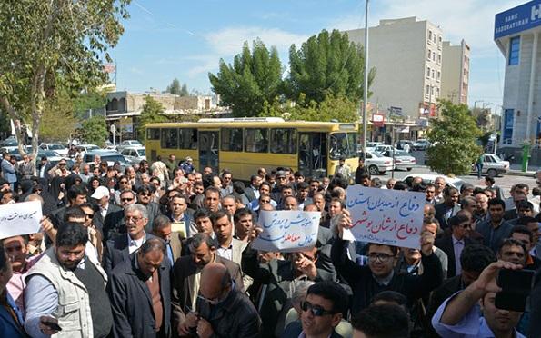 26 تجمع اعتراضی معلمان در بوشهر