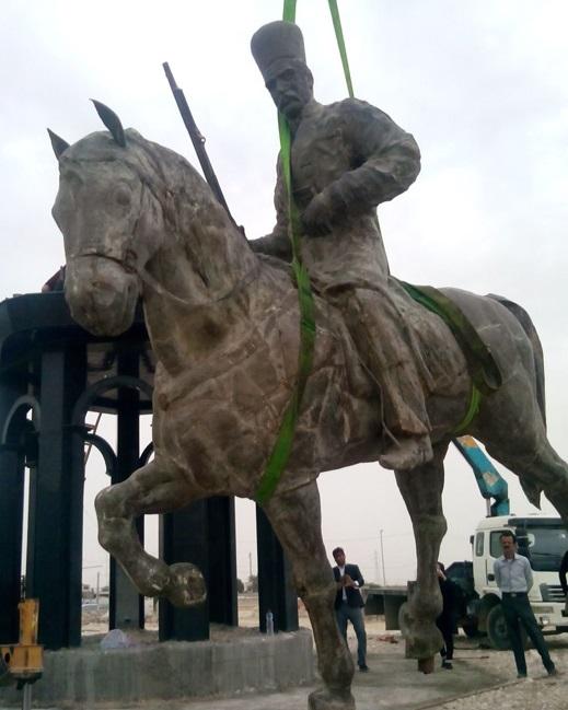 مجسمه غضنفرالسلطنه برازجانی