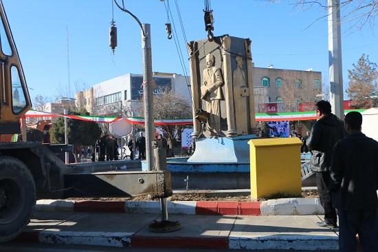 تخریب مجسمه سعدی در سلماس2 (2)