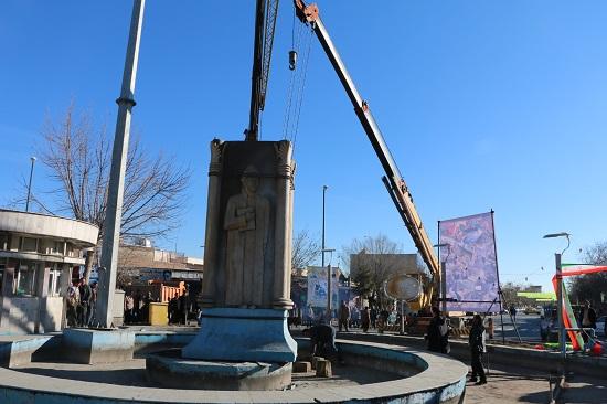 تخریب مجسمه سعدی در سلماس3