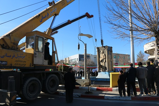 تخریب مجسمه سعدی در سلماس4