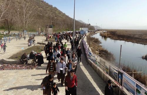 راهپیمایی صدها تن از اهالی مریوان در حمایت از دریاچه زریبار1